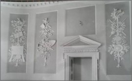 Plasterwork in the drawing-room
