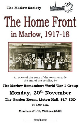 The Home Front in Marlow 1917-18