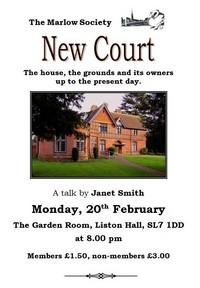 New Court - a talk by Janet Smith
